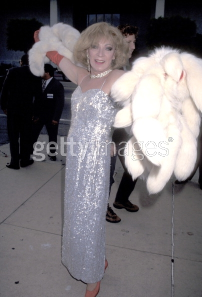 Holly at the opening of I Shot Andy Warhol