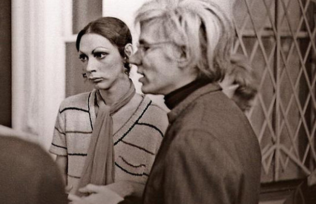 Holly Woodlawn and Andy Warhol