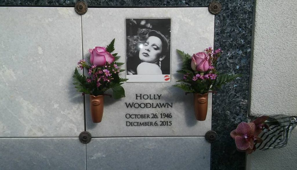 Holly Woodlawn's gravesite at Hollywood Forever