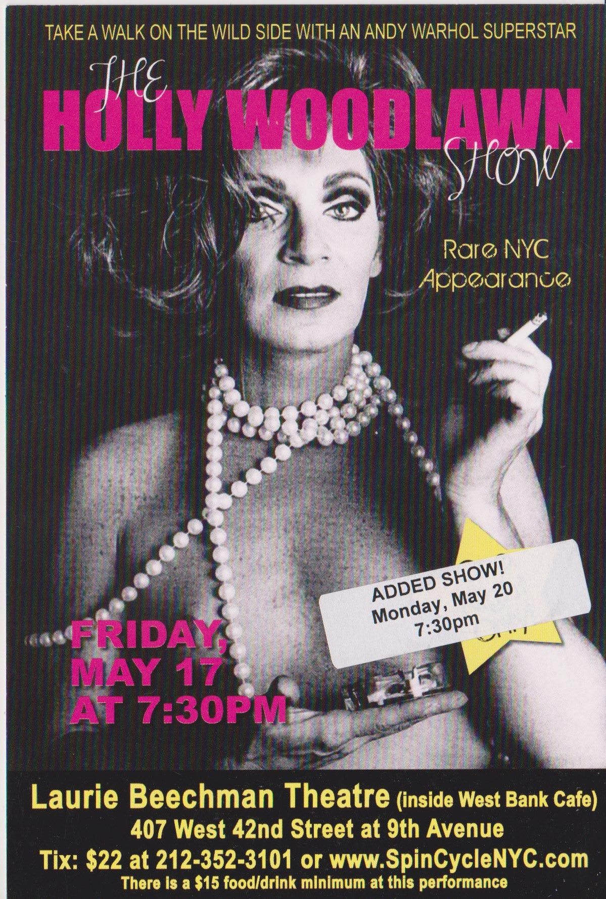 Holly Woodlawn 1-night-only