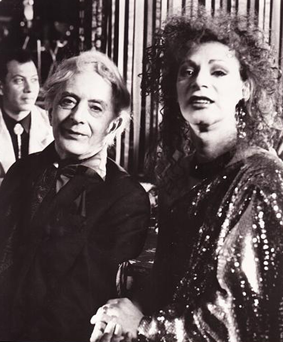 Quentin Crisp and Holly